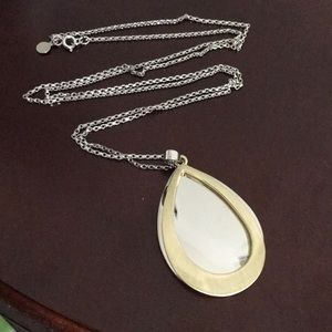 LOFT Silver & Gold Layered Pendant